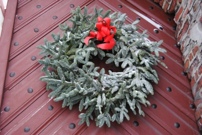 christmas wreath akershus castle