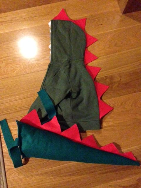 disfraz de dinosaurio diy